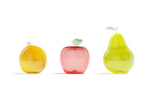 Glass fruits Stock Image