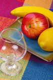 Glass and fruits Stock Photo