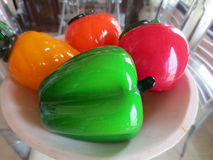 Glass fruits stock photo