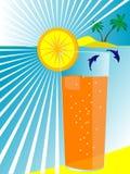 glass fruktsafthav vektor illustrationer