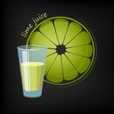 glass fruktsaftlimefrukt vektor illustrationer