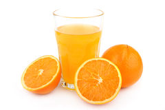 glass fruktsaftorange Arkivbild