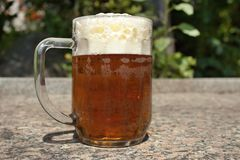 Glass full of beer Royalty Free Stock Images