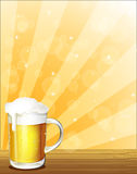 A glass full of cold beer. Illustration of a glass full of cold beer Royalty Free Stock Photos