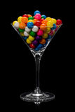 Glass Full of Gumballs Royalty Free Stock Photography