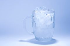 Glass full of ice cube Stock Photo