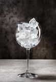 Glass full of ice Royalty Free Stock Images