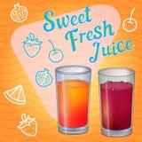 Glass full of red liquid,  juice,  wine. Glass full of red liquid, juice or wine Royalty Free Stock Image