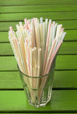 Glass Full of Straws Stock Photo