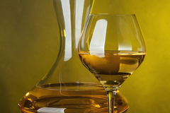 A glass full of wine Royalty Free Stock Photos