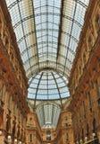 Glass gallery - Galleria Vittorio Emanuele Stock Image