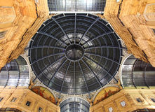 Glass gallery - Galleria Vittorio Emanuele - Milan Stock Photo