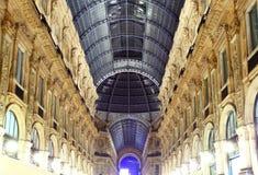 Glass gallery - Galleria Vittorio Emanuele - Milan Stock Photo