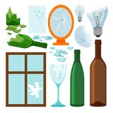 Glass Garbage Collection Stock Image