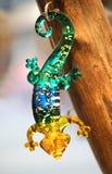 Glass gecko royaltyfria bilder