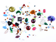 Glass gems for crafts Royalty Free Stock Images