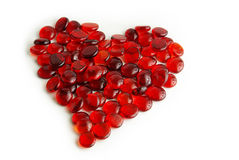Glass gems heart Stock Images