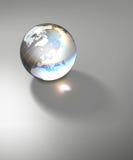 glass genomskinligt jordklotplanet för jord Royaltyfri Bild
