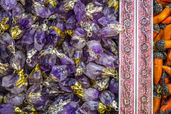 Glass gentle violet candy jewellery beads Royalty Free Stock Image