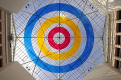 Glass geometric ceiling Royalty Free Stock Photography