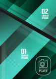 Glass geometric info background Royalty Free Stock Photo