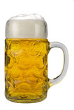glass german bavarian beer Stock Images