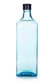 Glass gin bottle stock image