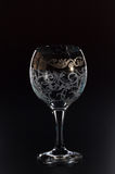 Glass glass on a black background Stock Photos