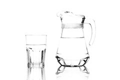 Glass and Glass Pitcher Royalty Free Stock Image