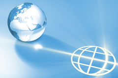 Glass global earth and symbolic light Stock Image