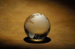 Glass Globe. Photo of a Glass Globe Paper Weight Royalty Free Stock Photo