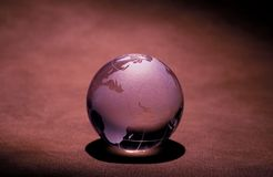 Glass Globe. Photo of a Glass Globe Paper Weight Stock Photography