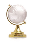 Glass globe. Over white background Royalty Free Stock Photos