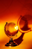 Glass Globe. Photo of a Glass Globe and its Shadow Stock Photo