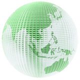 Glass globe. Frosted glass globe with green tint royalty free illustration