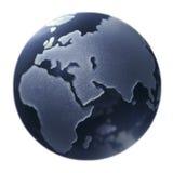 Glass globe. On white background Royalty Free Stock Photography