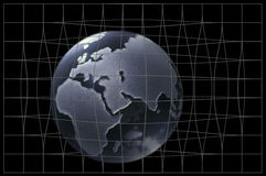 Glass globe. In net Royalty Free Stock Images