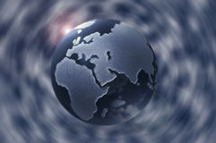 Glass globe. Abstract background Royalty Free Stock Photo