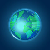 glass globe Διανυσματική απεικόνιση