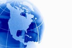 Glass globe. Blue glass globe against white Royalty Free Stock Photo