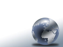 Glass globe. With world map stock illustration