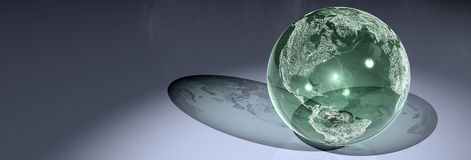 Glass globe. 3D render of a globe Royalty Free Illustration