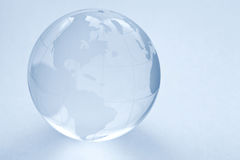 Glass globe ball. On the white background stock photography