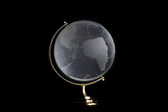 Glass globe on black background Royalty Free Stock Photo