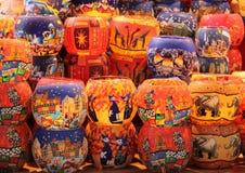 Glass Globe Candle Holders. Stock Photo