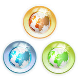 Glass globe with Earth. Isolated on white background stock illustration