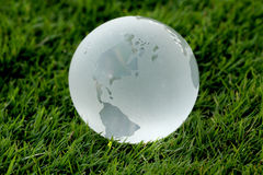 Glass globe in the grass Stock Image