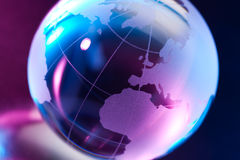 Glass globe illustration Stock Photography