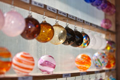 Glass globe ornaments Stock Image