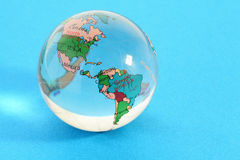 Glass globe with political map of world Stock Images